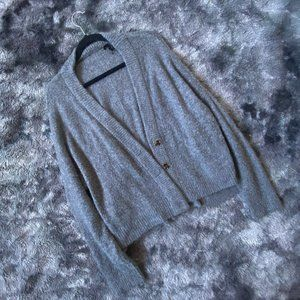 Oliveaceous Plush Oversized Cardigan